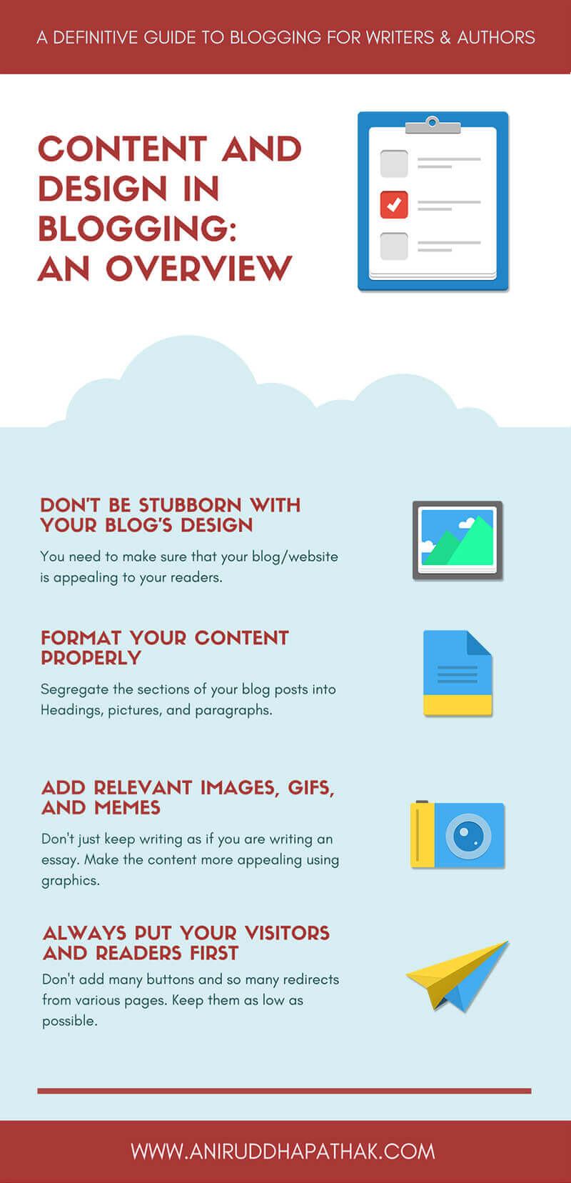 Content and Blogging Overview Infographic- Aniruddha Pathak