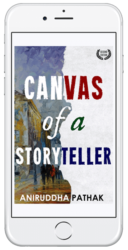 iPhone Mockup - Canvas of a Storyteller by Aniruddha Pathak